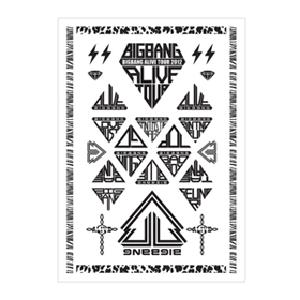 [YG Official MD] Big Bang Alive Tour 2012 Tatoo Sticker (2pc)