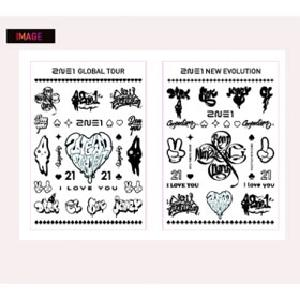 [YG Official MD] 2NE1 I LOVE YOU Tattoo Stickers (a set of two)