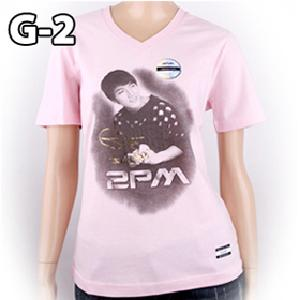 [JYP Official MD] 2PM Collection T-shirt (Joon Soo_G-2V_Pink_S)