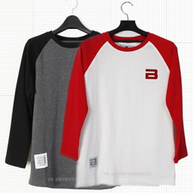 [YG Official MD] Big Bang 2012 Official Raglan T-shirts (White/Red_L)