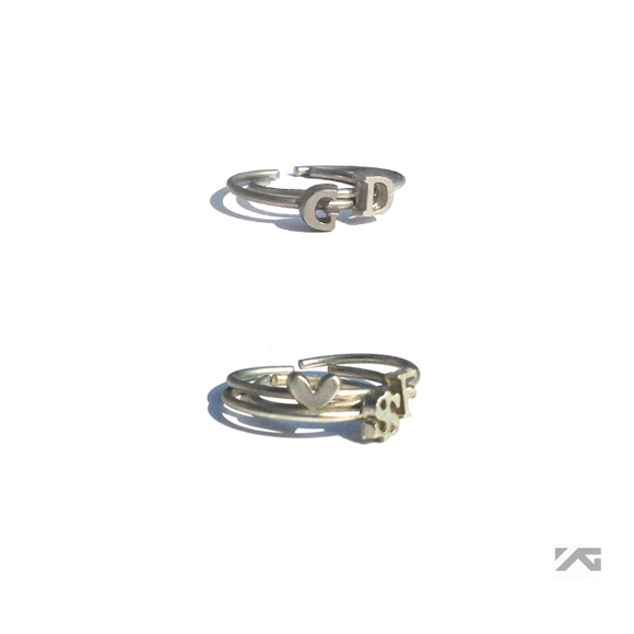 [YG Official MD] G-Dragon One Of A Kind Ring Set (Silver)