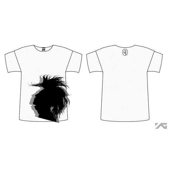 [YG Official MD] G-Dragon 2013 One Of A Kind SilhouetteT-shirts (White_F)