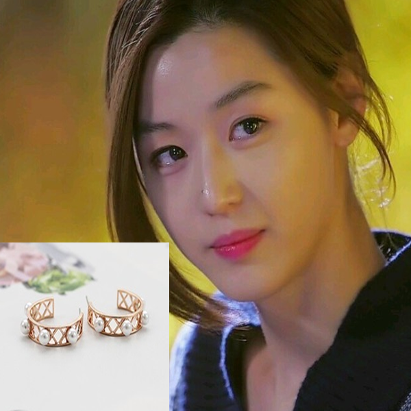 My Love from the Star - SBS Drama_Jun ji hyun : luchea pink gold earring (Silver Needle)