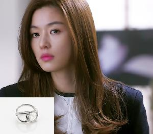 My Love from the Star - SBS Drama_Jun ji hyun : helix silver ring