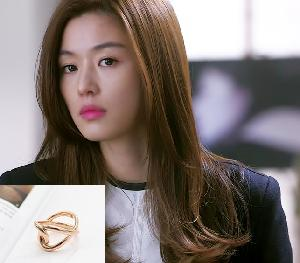 My Love from the Star - SBS Drama_Jun ji hyun : helix pink gold ring