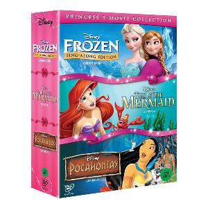 PRINCESS  3 Movie Collection BOX SET 1 - Frozen : Sing Along + The little Mermaid + Pocahontas