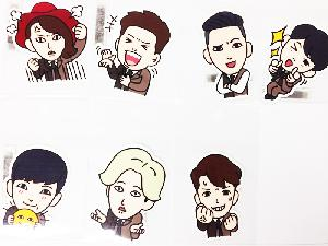 [SUM] Super Junior - Character Sticker Message