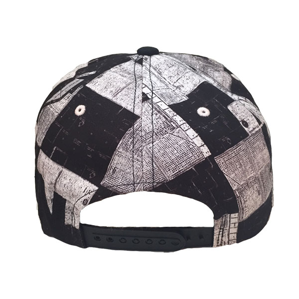 NONA9ON - [ACC] ALL-OVER PRINTED CAUTION SNAPBACK