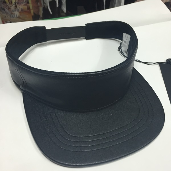 NONA9ON - FAUX LEATHER VISOR (Black)