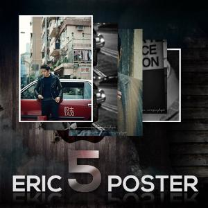 ERIC(MOON JUNG HYUK) Poster 5P Set [ERIC in HONGKONG] + Tube