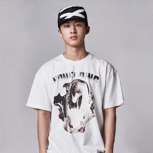 [iKON BOBBY, B.I] NONA9ON - [MEN'S] SKULL COLLAGE GRAPHIC T-SHIRT I