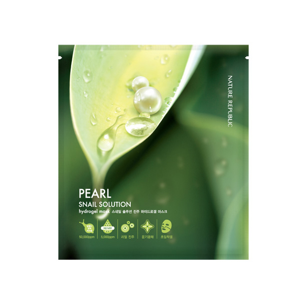 [NATURE REPUBLIC] Snail Solutions Pearl Hydrogel Mask(R)