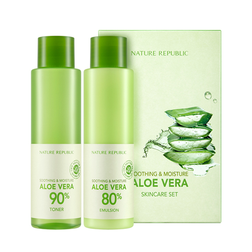 [NATURE REPUBLIC] Soothing And Moisturizing Aloe Vera Skin Care Set