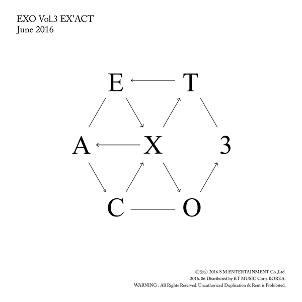 EXO - Album Vol.3 [EX'ACT] (Korean Ver. / Random ver.)