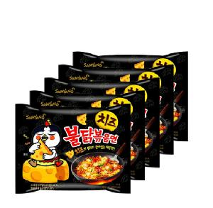 [SAMYANG] Cheese Spicy Chicken Roasted Noodles 140g * 5EA