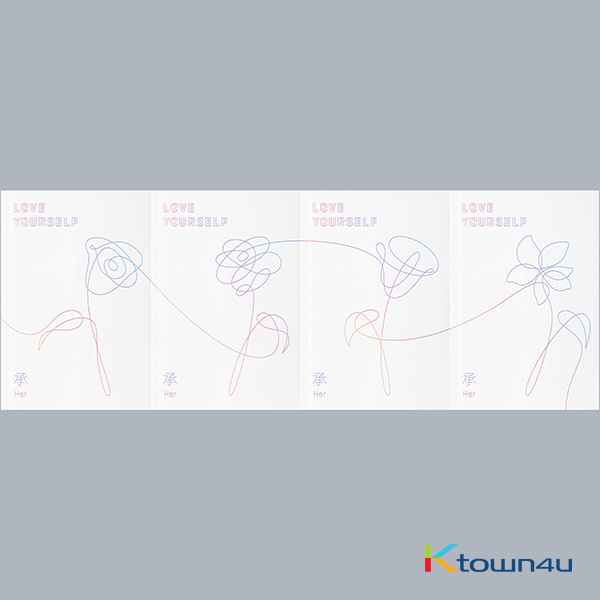 [4CD SET] BTS - Mini Album Vol.5  BTS [LOVE YOURSELF 承 Her] First press in Stock (L ver. + O ver. + V ver + E ver.)