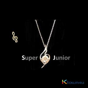 Super Junior - Super Junior Official necklace (WHITE GOLD PLATING)