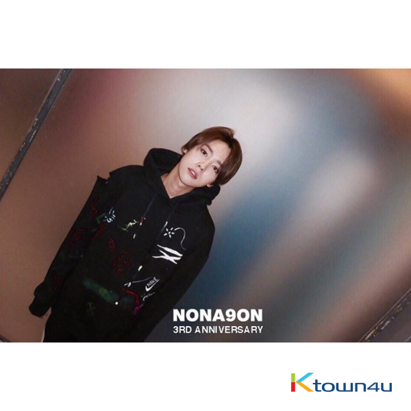 [iKON : BOBBY, WINNER, BLACK PINK] NONA9ON - [MEN'S] 3RD ANNIVERSARY HOODIE (BLACK)