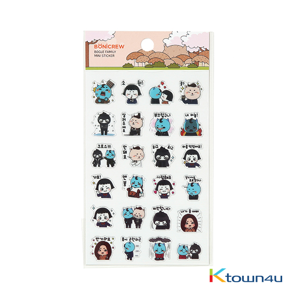 [BONICREW] Guardian: The Lonely and Great God - Transparent Mini Sticker Bogle Family (Ver. Guardian)