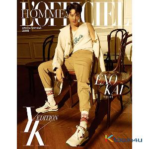 L`OFFICIEL HOMMES YK EDITION B Type (Cover : EXO : KAI)