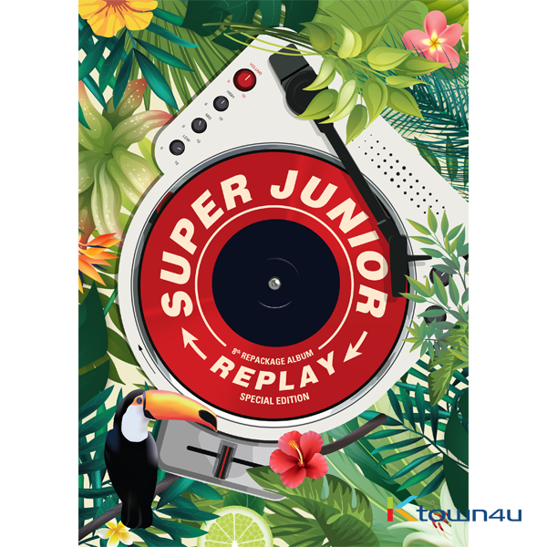 Super Junior - Album Vol.8 Repackage [REPLAY] (Kihno Album) *Due to the built-in battery of the Khino album, only 1 item could be ordered and shipped at a time.
