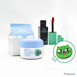 [+Free Pouch] [Daily Set 2] [costagram] OKCAT MILK CERA SOOTHING CREAM (2PM :Taec Yeon) + MILK FACE LIP CAPTURE TINT (*please select the tint option)