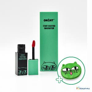 [+Free Pouch] [Daily Set 3] [costagram] OKCAT MILK FACE DAILY STYLING EYE SHADOW KIT (4 Color) + MILK FACE LIP CAPTURE TINT (*please select the tint option)
