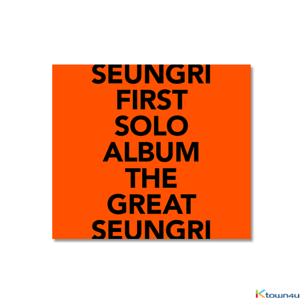Big Bang : Seung Ri - Album Vol.1 [THE GREAT SEUNGRI] (ORANGE Ver.) (Only Ktown4u's Special Gift: transparent photocard Random 2 pcs)