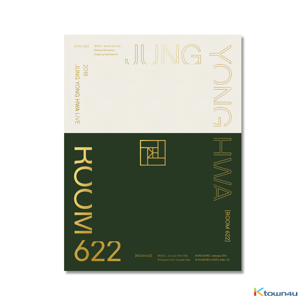[DVD] CNBLUE : Jung Yong Hwa - 2018 JUNG YONG HWA LIVE [ROOM 622] DVD (LIMITED EDITION)