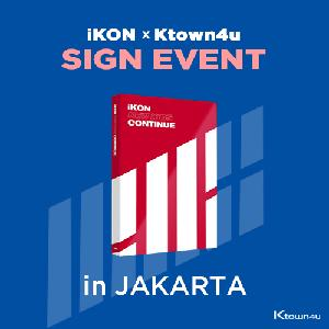 [iKON X Ktown4u JAKARTA SIGN EVENT] iKON - Mini Album [NEW KIDS : CONTINUE] (RED Ver.)