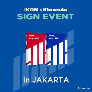 [iKON X Ktown4u JAKARTA SIGN EVNET] [SET][2CD SET] iKON - Mini Album [NEW KIDS : CONTINUE] (RED Ver. + BLUE Ver.)