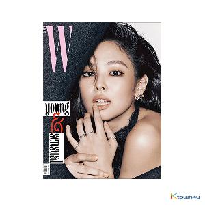W KOREA 2018.11 B Type (BLACKPINK : JENNIE, EXO : KAI)