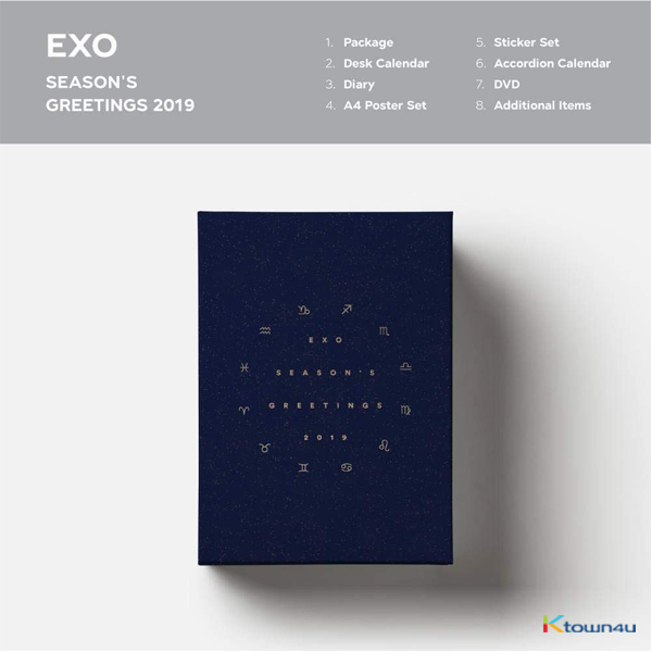 EXO - 2019 SEASON'S GREETINGS (Only Ktown4u's Special Gift : Big Postcard 115*170 Size 1pc)
