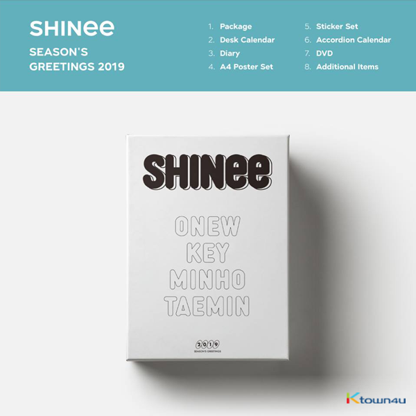 SHINee - 2019 SEASON'S GREETINGS (Only Ktown4u's Special Gift : Big Postcard 115*170 Size 1pc ~until sold out)