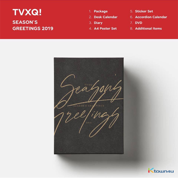 TVXQ! - 2019 SEASON'S GREETINGS (Only Ktown4u's Special Gift : Big Postcard 115*170 Size 1pc)