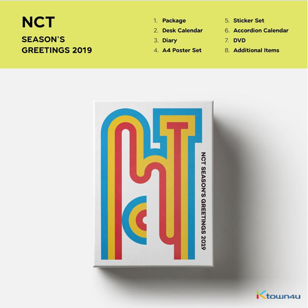 NCT - 2019 SEASON'S GREETINGS (Only Ktown4u's Special Gift : Big Postcard 115*170 Size 1pc)