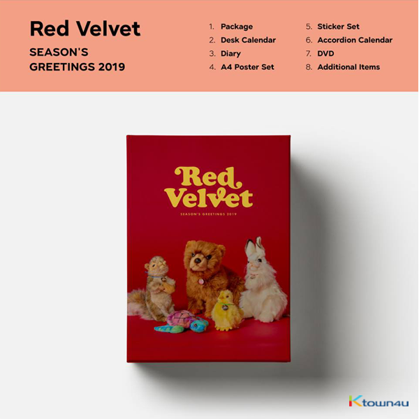 Red Velvet - 2019 SEASON'S GREETINGS (Only Ktown4u's Special Gift : Big Postcard 115*170 Size 1pc)