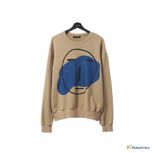 [SKULLHONG] POKER FACE SWEAT SHIRT LIGHT BROWN (OVER SIZE) [17FW]