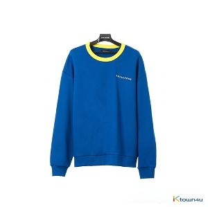 [SKULLHONG] NECK POINT SWEATSHIRT BLUE [18FW]