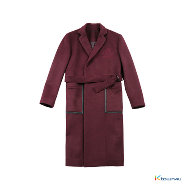 [SKULLHONG] BURGUNDY ROSE COAT [16FW]