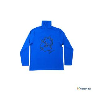 [SKULLHONG] BLUE TURTLENECK T-SHIRT [15FW]
