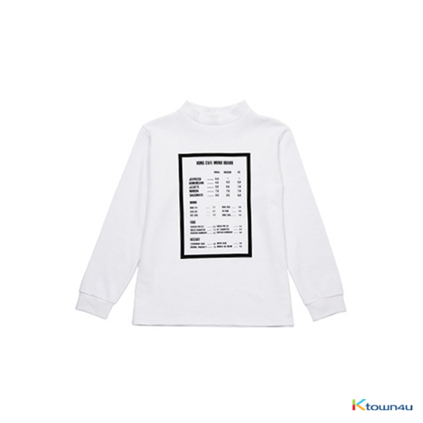 [SKULLHONG] MENU BOARD T-SHIRT [15FW]