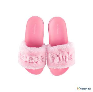 [INYOURAREA] BLACKPINK - BLACKPINK  SLIDE FUR SLIPPER