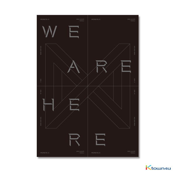 [SET][4CD SET] MONSTA X - Album Vol.2 TAKE.2 [WE ARE HERE] (VER. Ⅰ + VER. Ⅱ + VER. Ⅲ + VER. Ⅳ)