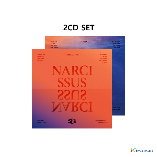 [SET][2CD SET] SF9 - Mini Album Vol.6 [NARCISSUS] (TEMPTATION Ver. + EMPTINESS Ver.)