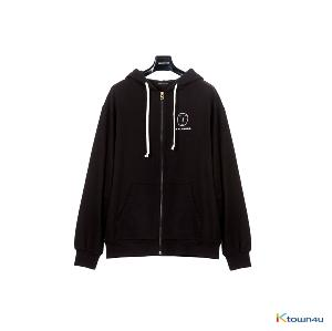 [SKULLHONG] POCKER FACE HOODIE ZIP UP BLACK [19SS]