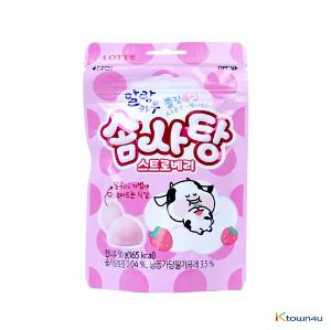 [LOTTE] Malang Cow Cotton Candy Strawberry 50g