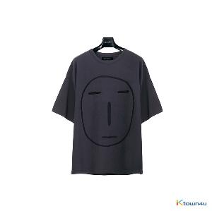 [SKULLHONG] POKER FACE T-SHIRT CHARCOAL [19SS]