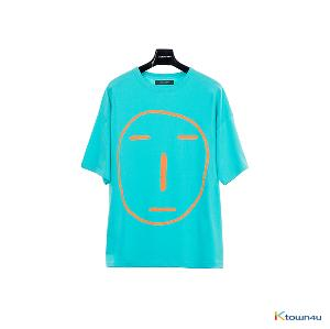 [SKULLHONG] POKER FACE T-SHIRT BLUEGREEN [19SS]