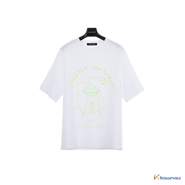 [SKULLHONG] SPACE T-SHIRT WHITE (M)